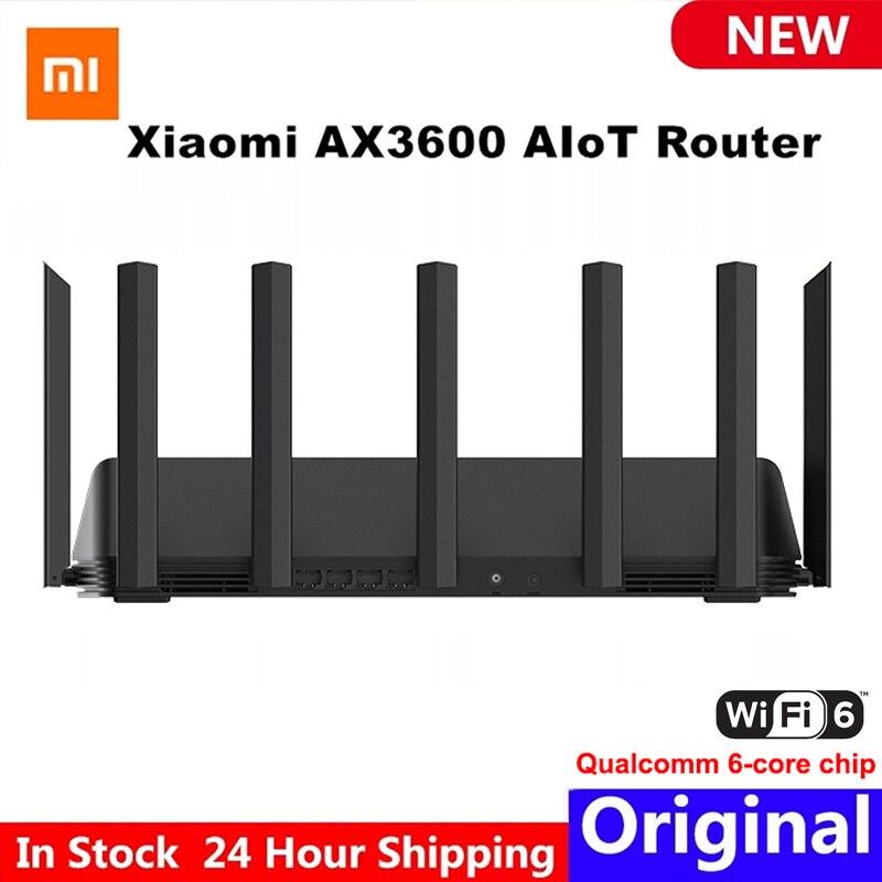 Маршрутизатор Xiaomi AX3600 AIoT Wifi6 5G WPA3 Wifi6 600 Мб двухдиапазонный 2976Mbs Gigabit Rate Qualcomm A53 внешний усилитель сигнала модем