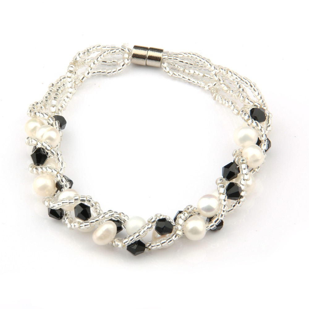 2020 New Genuine Natural Freshwater Pearl Bracelet Charms Bracelets Bangles For Women Pearl Fine Jewelry