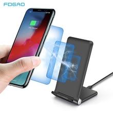 15W Fast Wireless Charger Pad พับได้ 10W Qi Charging Stand สำหรับ iPhone 11 Pro Max XS XR X 8 Samsung S10 S9 S8 Plus หมายเหตุ 10 9