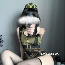 Seksowny kostium mundur wojskowy odgrywanie roli policjantka żołnierz sukienka impreza z okazji Halloween wojskowy ubrania Cosplay erotyczne komplet bielizny