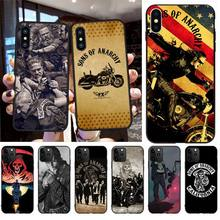 CUTEWANAN American TV Sons of Anarchy Soft Silicone Black Phone Case for iPhone 11 pro XS MAX 8 7 6 6S Plus X 5S SE 2020 XR case red black star sons of anarchy reaper bandeau side tie bikini