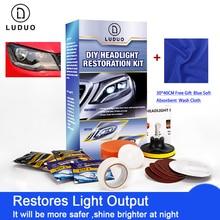 LUDUO Headlamp Repair Headlight Restoration Kits f