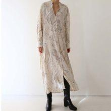 Robe en tissu imprimé de créateur coréen, tenue élégante à la mode, atmosphère, nouvelle collection 2021