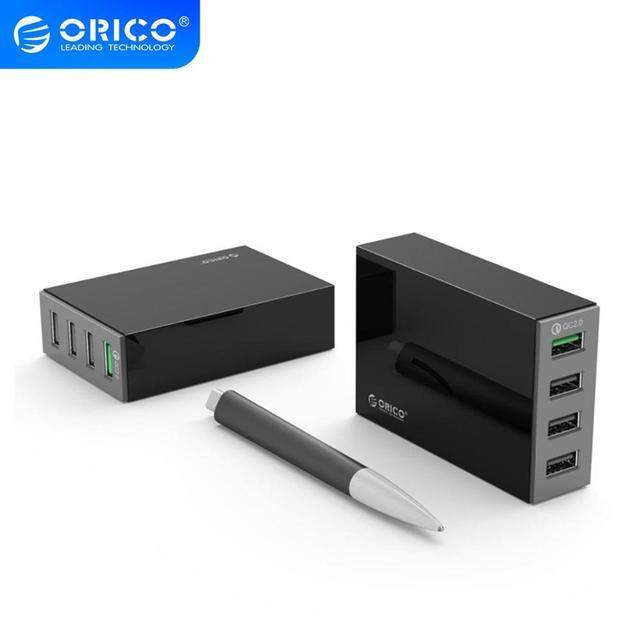 Orico 4/5 porto qc2.0 carga rápida 2.0 inteligente desktop do telefone móvel carregador usb universal rápido carregador para samsung iphone x 8 plus