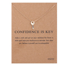 Fashion Key Necklace Women Pendant Clavicle Chain Statement Choker Necklaces Gift Card Collares Mothers Day Jewelry штатная магнитола daystar ds 7067hd hyundai elantra 2013 android 7 1 2 8 ядер 2gb озу 32gb памяти