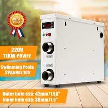 11 кВт 220 В водонагреватель Электрический цифровой водонагреватель термостат для бассейна спа гидромассажная Ванна ванна водонагреватель горячая вода