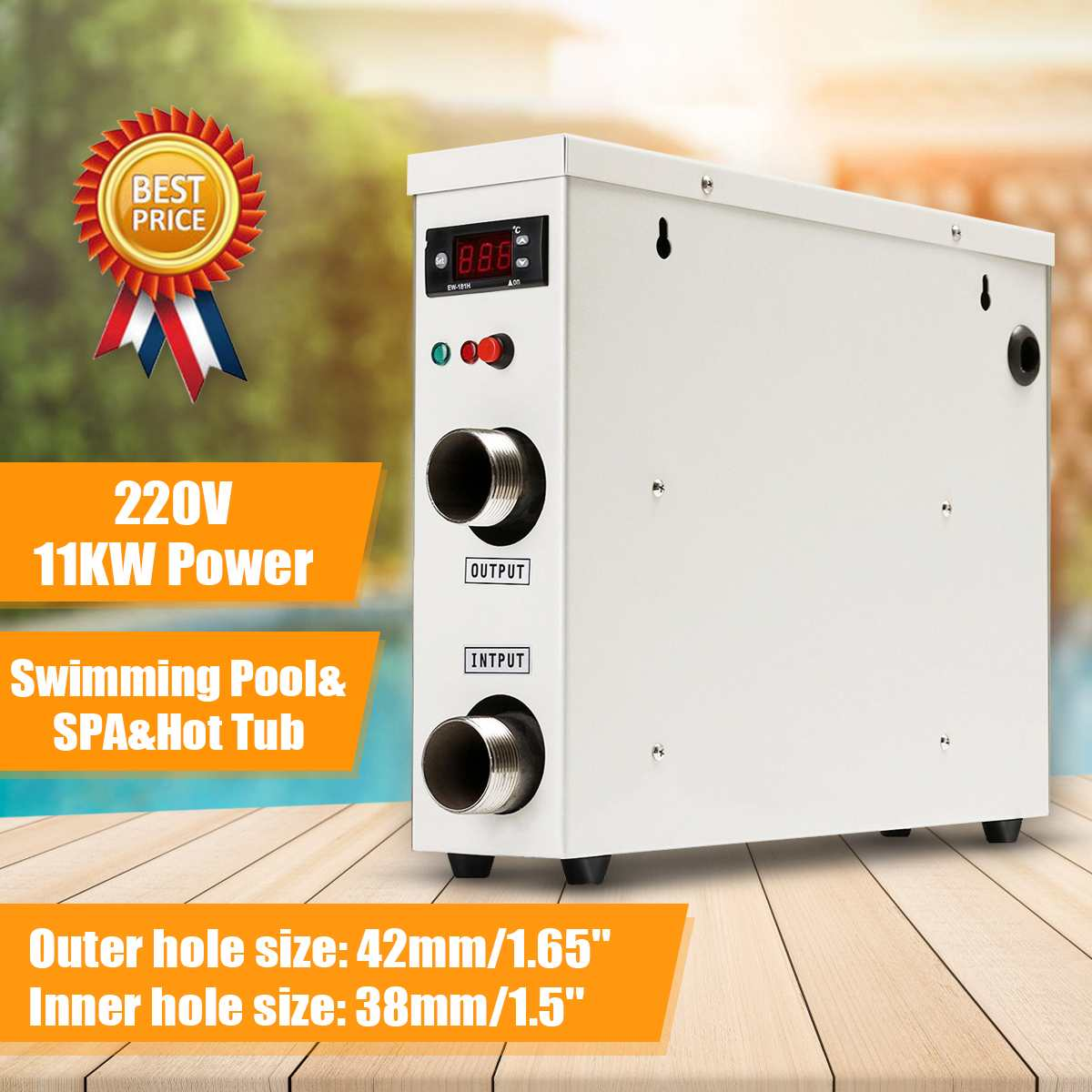 11KW 220V Water Heater  Electric Digital Water Heater Thermostat For Swimming Pool SPA Hot Tub Bath Water Heating Water Hot