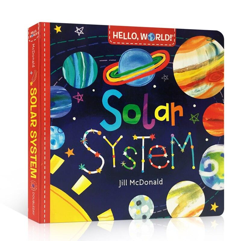 Здравствуйте, мир, солнечная система, Оригинальная английская доска, книга для изучения науки красоты, книга для детей для раннего развития