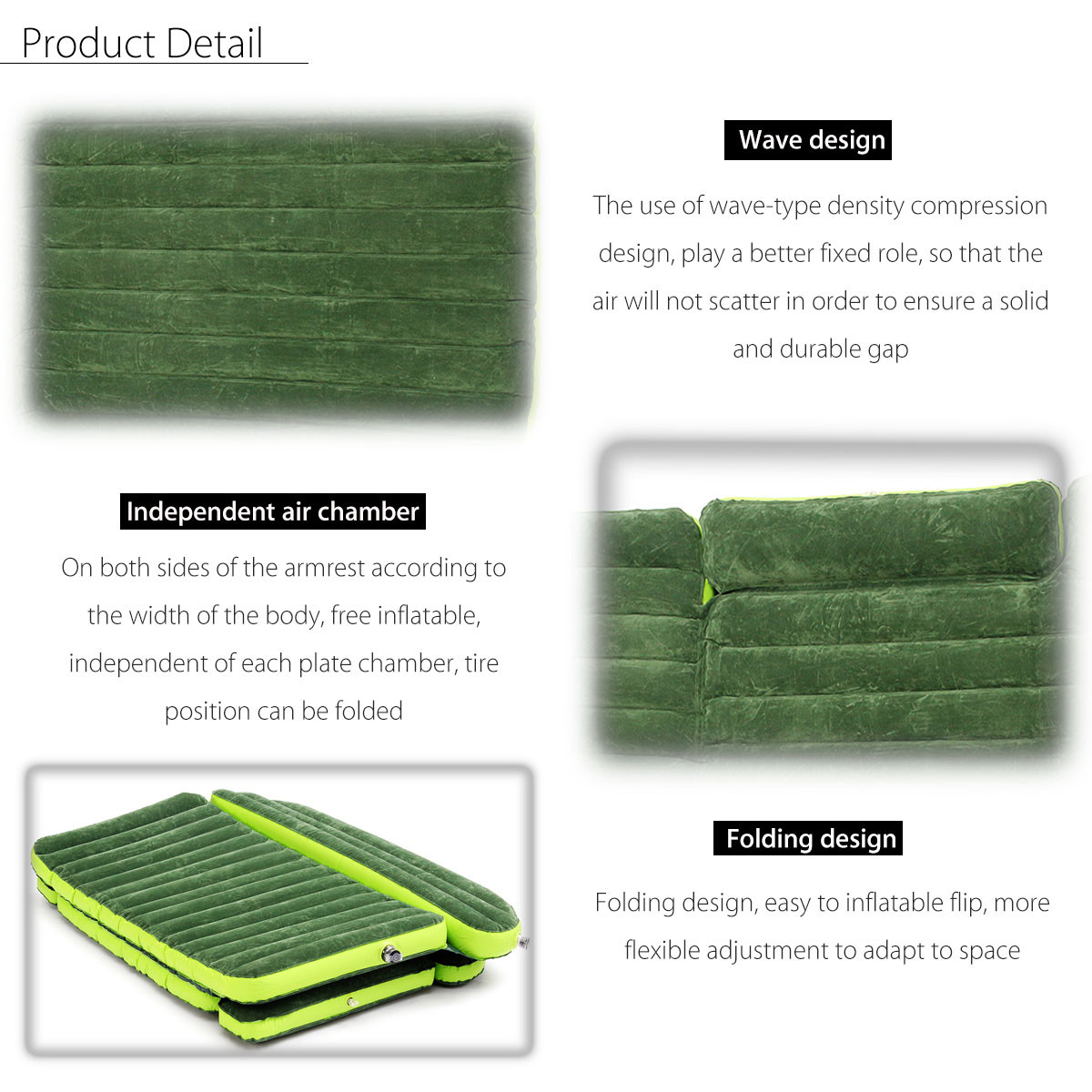 6x4 Ft SUV/Car Inflatable Mattress with Electric Pump 4