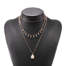 Винтажное серое кубическое циркониевое квадратное ожерелье с