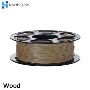 Image 3 - Filamento de madeira do pla da fibra da impressora 3d de northcube 1.75mm 0.8 kg/rolo efeitos de madeira filamento da cor semelhante para a impressora 3d