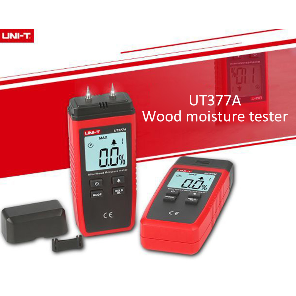 Купить с кэшбэком Uni-t UT377A Digital Wood Moisture Meter Wood Hygrometer Humidity Tester for Paper Plywood Wooden Materials LCD Back light NEW