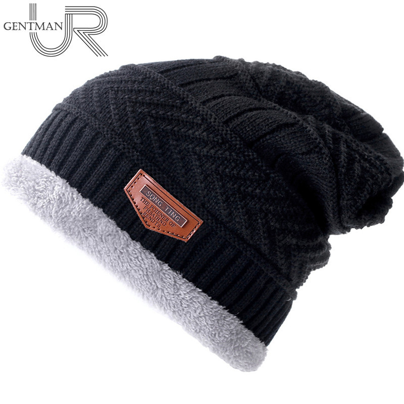New Unisex Warm Winter Hat Collar Stylish Add Fur Lined Soft Beanie Hat Thick Winter Hats For Men Women Knitted Hat Dropshipping