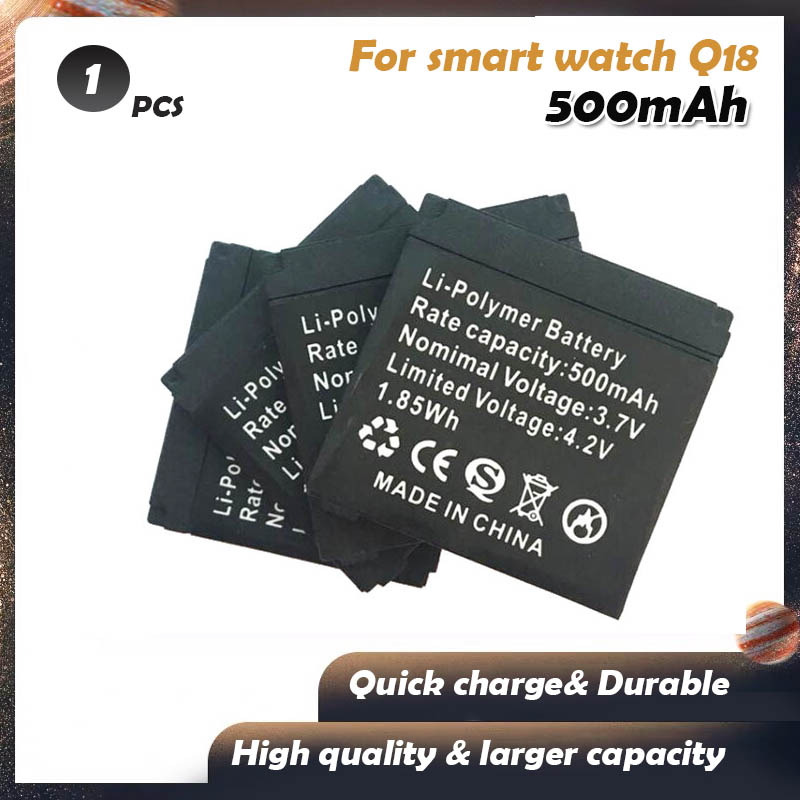 1pcs brand new 3.7V 500mAh Rechargeable Li-ion Polymer Battery For Smart Watch Q18 robot Lithium Batteries high capacity(China)