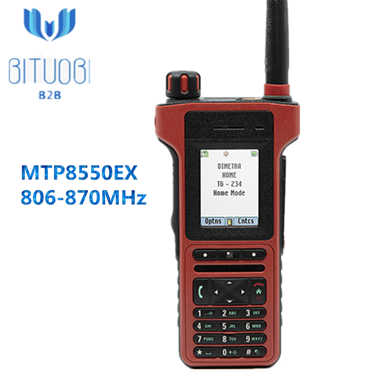 MTP8550EX Tetra radio 806-870MHz walkie talkie with Easier to use Bluetooth TEA1 TEA2 TEA3