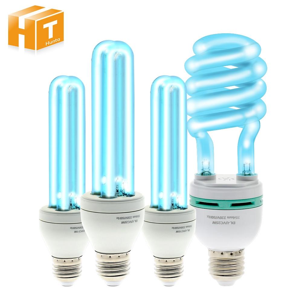 220V E27 Ultraviolet Bactericidal Lamp Bulb  Kill Dust Mite UVC Ozone Double-sterilized  UV Quartz Lamp.