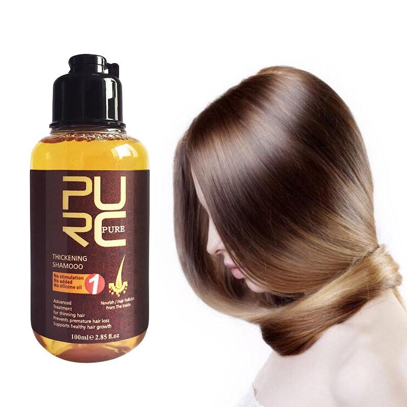 Dropshipping PURC Herbal Ginger Hair Shampoo Essence Treatment For Hair Loss Help Regrowth Shampoo High Quality Hot Sale TSLM1