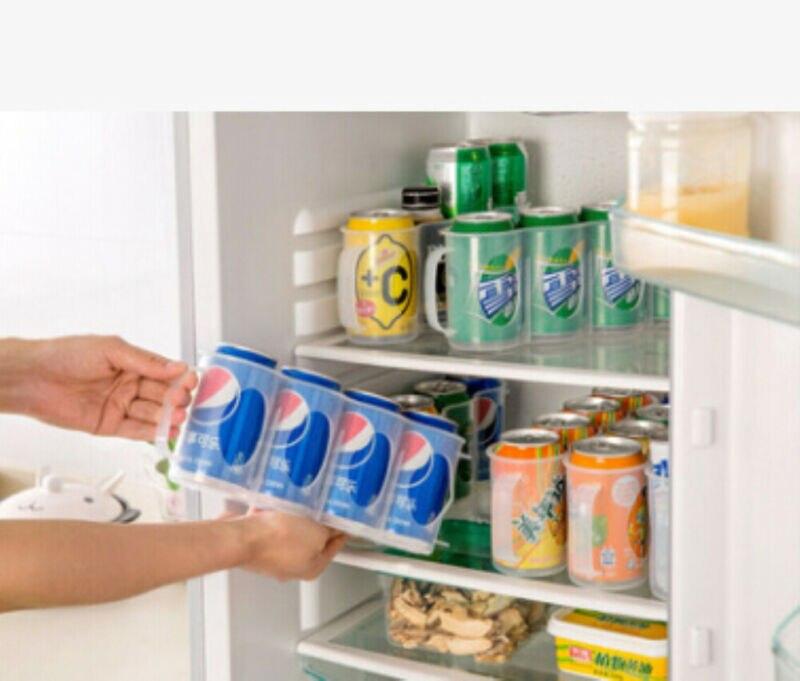 Hot Selling Kitchen Fridge Organizer Home Design Beer Soda Can Storage Holder Fridge Organization Rack Plastic Space