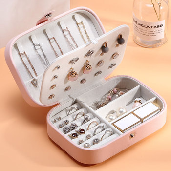 High Quality Jewelry Box Organizer Storage Leather Holder Earrings Ring Necklace Case Protable Jewel Packaging For Gift Display outad 12 slots watches display box jewelry storage packaging gift casket double layers leather organizer holder rack case hot
