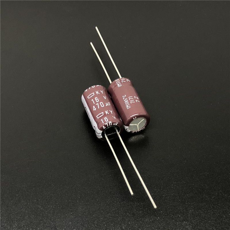 10pcs 470uF 16V NCC KY Series 8x16mm Low ESR 16V470uF Aluminum Electrolytic Capacitor
