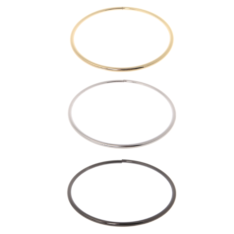 Metal O-rings Round Loop Leather DIY Craft Buckle For Purses Bags Belt