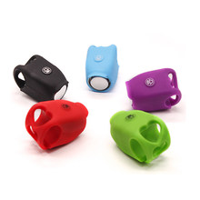 Bicycle Bells 120db Rainproof Cycling Bike Bells Electric Horn Cute Portable Silicone MTB Road Cycling Handle Bells