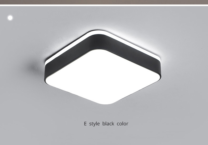 H4a6e28e8b4cc485faed3999fffa729dfN Living Room Ceiling Lights | Drop Ceiling Lights | LED Ceiling Light Corridor Art Gallery Decoration Front Balcony Lamp Porch White Black Power 18W