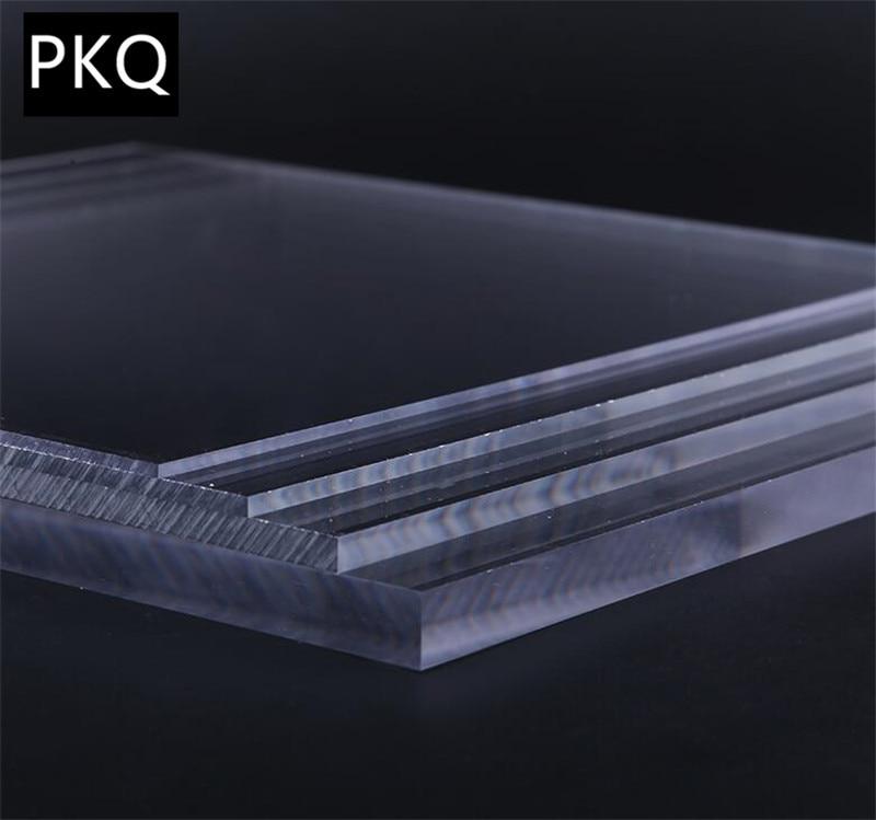 2PCS Transparent Perspex Sheet Panel DIY Crafts Thickness 5mm ...