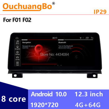 Ouchuangbo 12.3 Inch Android 10 Car Radio Stereo Head Unit for 7 Series F01 F02 2009-2015 NBT CIC With 8 Core 4GB 64GB 1920*720 image