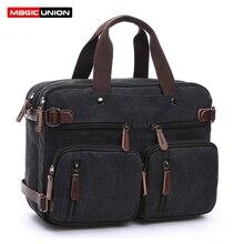 Волшебный Юнион, мужской рюкзак-трансформер, Холщовая Сумка на плечо, чехол для ноутбука, сумка для бизнеса, многофункциональный рюкзак для путешествий
