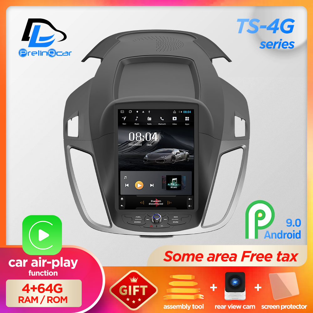 4G Lte 32G ROM Vertical Android System Multimedia Video Radio Player For Ford Escape Kuga 2013-2016 C-MAX Navigation Stereo