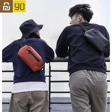 Youpin 90Fun حقيبة كتف مقاوم للماء كول عادية حقيبة صدر للرجال الخصر حقيبة المال الهاتف حقيبة بحزام للرياضة ركوب مع تحذير السلامة