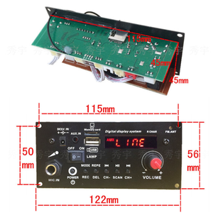 Image 3 - 3.7V lithium battery Digital Bluetooth Mono Amplifier Board Microphone Karaoke Amplifiers AUX TF USB FM Recording