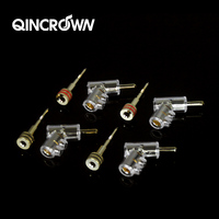 HIFI pure copper gold plated banana head lockable audio speaker cable connector gun type speaker amplifier plug socket terminal