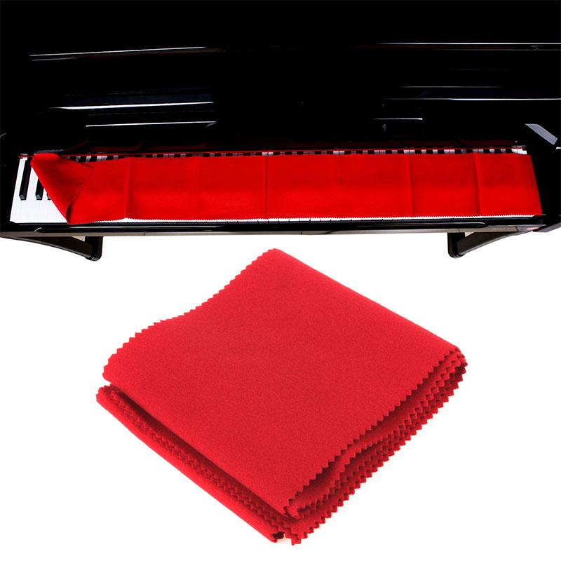 Durable Band Tool Cotton Macio Piano Piano Dustproof Cloth Play Maintain Stage 135cm Velvet Piano Keyboard Cover Clean