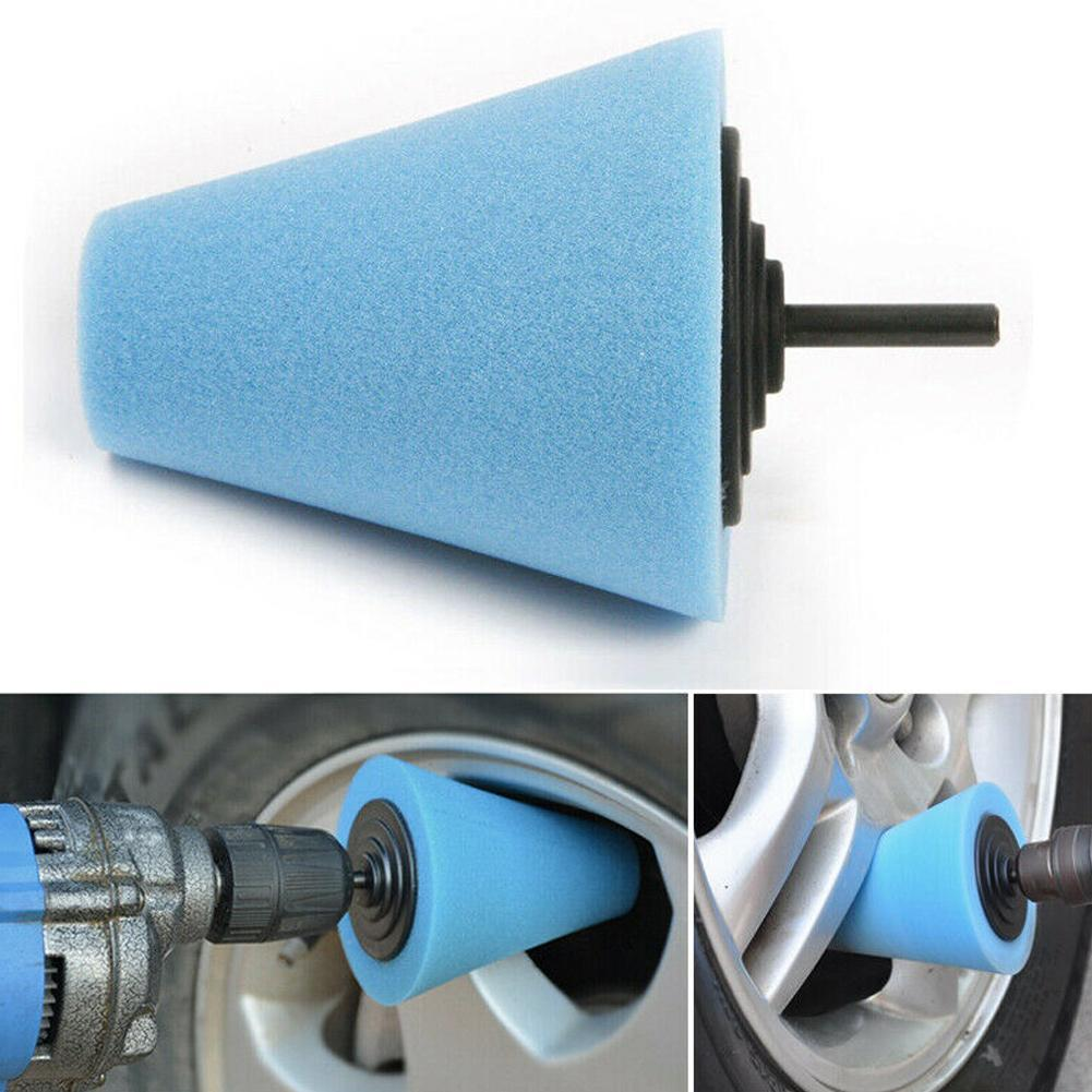 Voiture polisseuse pneus roue roue moyeu outil brunissage polissage cône-forme tampon disque moyeux polissage éponge mousse roue Machine P1L8