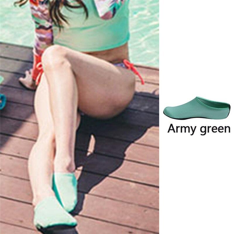 Водонепроницаемая обувь; обувь для плавания для мужчин и женщин; пляжная обувь для кемпинга; обувь для йоги; складная обувь унисекс для взрослых; мягкие Прогулочные кроссовки на плоской подошве; Новинка - Цвет: army green