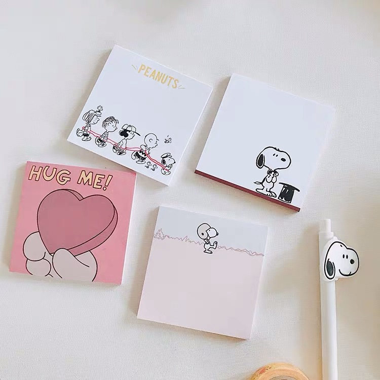 50sheet Peanuts Rogue Dog Cartoon Kawaii Memo Pad Sticky Note N Times Sticker Note Paper Message Book Stationery Notebook Office