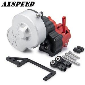 Металлическая коробка передач SCX10, коробка передач с коробкой передач для 1:10 радиоуправляемого гусеничного автомобиля, Axial SCX10, детали для м...