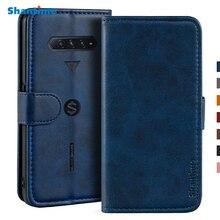 Pokrowiec na Xiaomi Black Shark 4 pokrowiec magnetyczny portfel skórzany pokrowiec na Xiaomi Black Shark 4 Pro stojak Coque etui na telefony