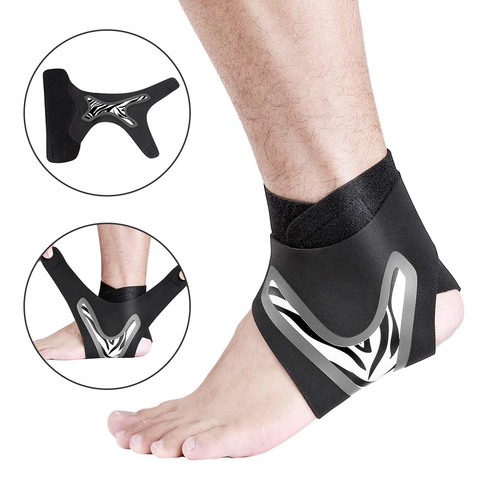 Tobillo elástico soporte ajustable tobillera transpirable soporte para la Protección deportiva espray lesiones baloncesto talón envoltura manga|Tobillera| - AliExpress