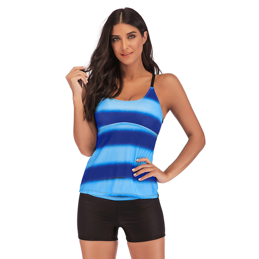 #Z3 Women Swimwear Beachwear Gradient Print 2 Pieces Bikini Swimsuit Bathing Suit 2020 Sexy Brazilian Bikini Swimwear Women