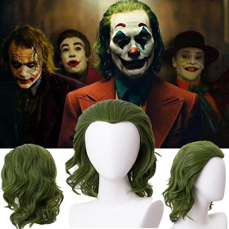 Joker Movie Pennywise Joaquin Phoenix Arthur Fleck Clown Batman Joker Wig Cosplay Curly Green Synthetic Hair Wig Props