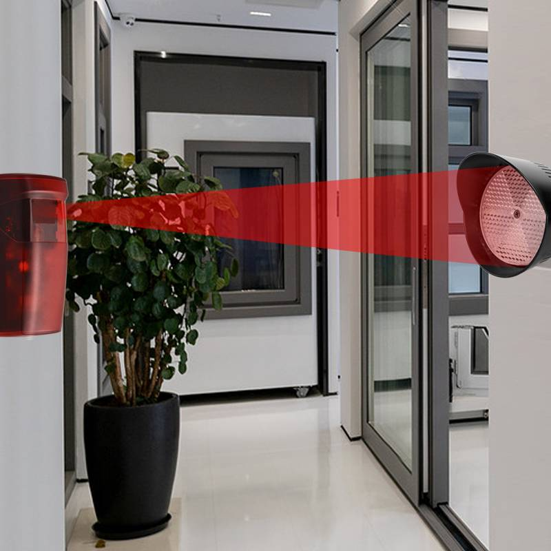 10m 12Vdc 24VDC Barrier Gate Door Opener Retro Reflective Photocell Photoelectric Sensor Beam Photo Electric Reflector Outdoor
