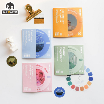 цена на Mr.paper 4 Designs 22Pcs/lot Color Movie Ins Deco Stickers Scrapbooking Bullet Journal Toy Plants Album DIY Stationery Stickers