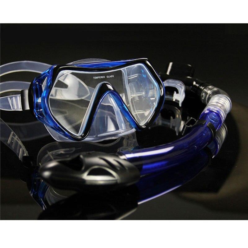 New Professional Diving Goggles Men And Women Swim Snorkel Tube Adults Scuba Monofin Snorkeling Swimming Glasses Diving Mask Set