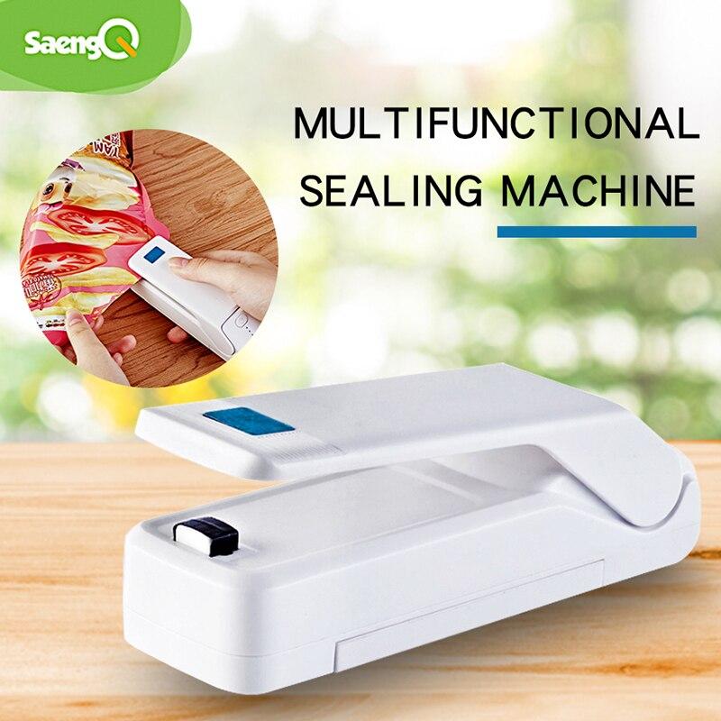 SaengQ Мини Портативная Машина Для Запечатывания многофункциональная маленькая домашняя машина для запечатывания пластиковых пакетов машина для запечатывания закусок и хранения пакетов