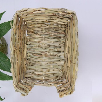 23*18*8.5cm Natural Bed and Grass Nest for Guinea Pigs Chinchillas and Rabbits Small Pets Hamster Chew Toys Mice Bed 2