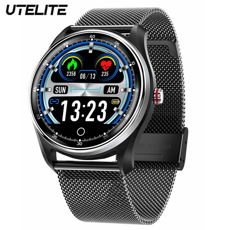 UTELITE MX9 <font><b>Smart</b></font> <font><b>Watch</b></font> ECG PPG Men Electrocardiogram <font><b>Display</b></font> Heart Rate Blood Pressure Monitor IP68 Waterproof Fitness Wtaches image
