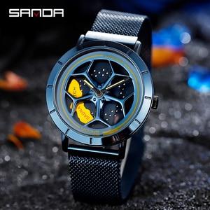 Image 4 - 2020 Hot Sell Fashion Cool Men Watch SportsCar Rotating Dial Wheel Wristwatch Waterproof Magnet Buckle Quartz Movement Gift 1022